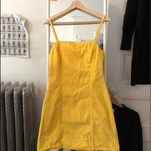 UO Yellow Denim Dress